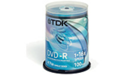 TDK DVD-R 16x 100pk Spindle