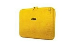 """Mobile Edge Small Faux-Croc Portfolio 14.1"""" Yellow"""