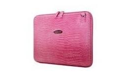 """Mobile Edge Small Faux-Croc Portfolio 14.1"""" Pink"""