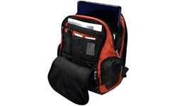 """Toshiba Mobile Backpack 15.4"""" Black and Brick Red"""