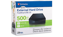 """Verbatim External 3.5"""" Hard Drive 500GB USB2/FW400"""