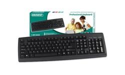 Eminent Keyboard Black USB PS/2