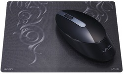 Sony Vaio Wireless Bluetooth Laser Mouse Black with matching mousepad