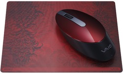 Sony Vaio Wireless Bluetooth Laser Mouse Red with matching mousepad