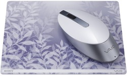 Sony Vaio Wireless Bluetooth Laser Mouse White with matching mousepad