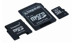 Kingston MicroSDHC 8GB + 2 Adapters