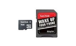 Sandisk MicroSDHC 4GB + Adapter
