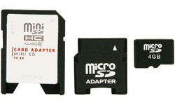 Icidu MicroSDHC 4GB + 2 adapters