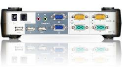 Aten 2-Port USB VGA Dual Display/Audio KVMP Switch