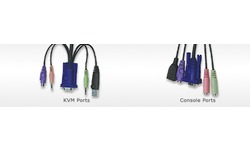 Aten 2-Port PS/2 USB VGA/Audio Cable KVM Switch with Remote Port Selector