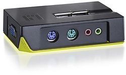 LevelOne 2-Port PS/2 KVM Switch with Audio