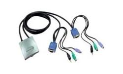 PCT 2-port PS/2 KVM Switch