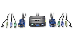 LevelOne Cable KVM switch 2-Port PS/2 with Audio