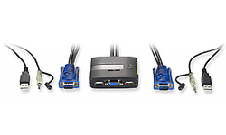 LevelOne Cable KVM switch 2-Port USB with Audio