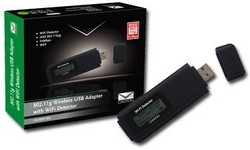 Canyon 802.11g Wireless USB Adapter with WiFi Detector