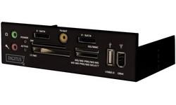 Digitus Multimedia panel USB 2.0 53-in-1 Black