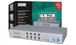 Digitus KVM Switch Audio 1 User 4 PCs