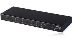 Edimax 16-port combo (PS/2+USB) rackmount KVM switch with OSD