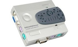 Iogear 2-Port MiniView Compact KVM kit woth Cables
