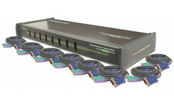 Iogear MiniView GCS138 8-Port KVM Switch with cables