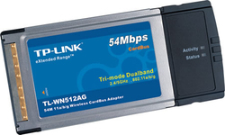 TP-Link Extended Range 54M Wireless Cardbus Adapter TL-WN512AG