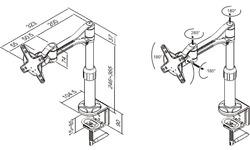 NewStar FPMA-D1120 LCD/TFT Desk Mount