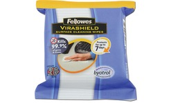 Fellowes Virashield Surface Cleaning Wipes 20pk