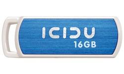 Icidu Pivot Flash Drive 16GB White/Blue