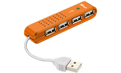 Trust Vecco 4-Port USB 2.0 Mini Hub Orange