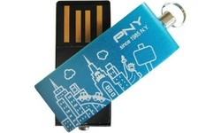 PNY Micro Attaché City Series 8GB Blue