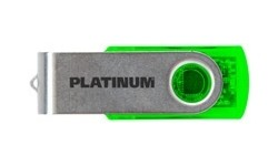 Platinum Twister 32GB Green Transparent