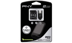 PNY MicroSD Mobility Pack 2GB