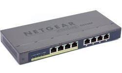 Netgear 8-port 10/100/1000 Gigabit Switch with 4-Port PoE (GS108P)
