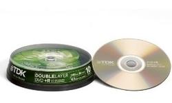 TDK DVD+R DL 8x 10pk Spindle