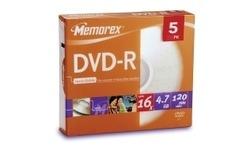 MemoRight DVD+R 16x 5pk