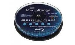 MediaRange BD-R 4x 10px Printable Spindle