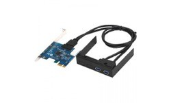 SilverStone SST-EC03 Internal Dual Port USB 3.0 Card Black