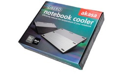 Akasa Black Libero Mobile Aluminium Notebook Cooler