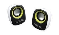 König Portable USB speaker 2x 3W Yellow