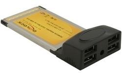 Delock PCMCIA USB 2.0 CardBus 4-port
