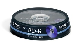 TDK BD-R 4x 10pk Spindle