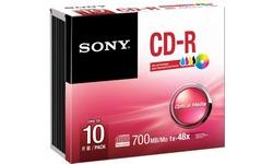 Sony CD-R 48x 10pk Slim case