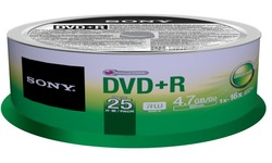 Sony DVD+R 16x 25pk Spindle