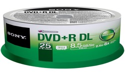 Sony DVD+R DL 4x 25pk Spindle