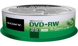Sony DVD+RW 4x 25pk Spindle