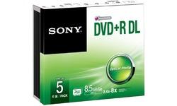 Sony DVD+R DL 5pk Slim case
