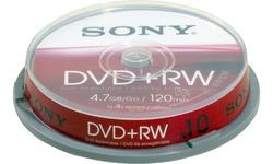 Sony DVD+RW 4x 10pk Jewel case