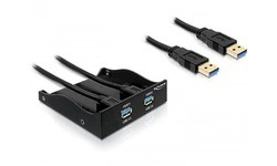 Delock 2-port USB 3.0 Front Panel 5.25""