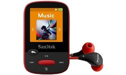 Sandisk Clip Sport MP3 Player 4GB Red