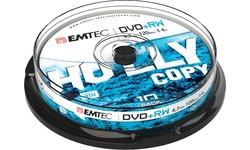 Emtec DVD-RW 4x 10pk Spindle